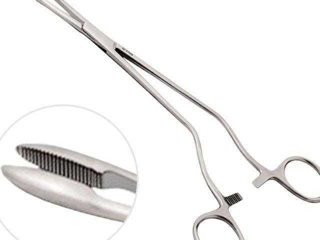 Pinças e instrumentos cirúrgicos